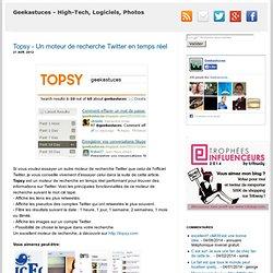 Topsy - Un moteur de recherche Twitter en temps réel