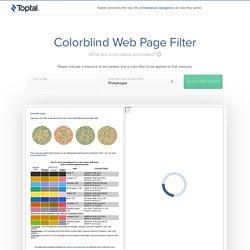 Vérifier son site pour les daltoniens >>> Toptal Color Blind Filter