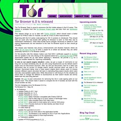 Tor Browser 6.0 is released