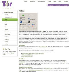 Tor Project: Vidalia