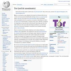 Tor (red de anonimato)