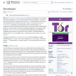 Tor (réseau)