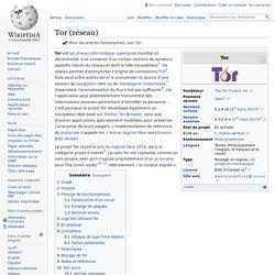 Tor - Réseau anonyme