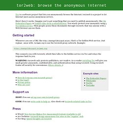 tor2web: visit anonymous websites