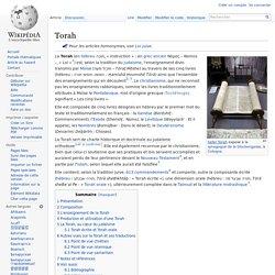 Torah : l'enseignement divin transmis par Moïse