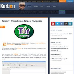TorBirdy – Une extension Tor pour Thunderbird