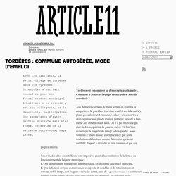 Tordères : commune autogérée, mode d'emploi - Marion Dumand