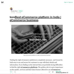 toreBest eCommerce platform in India