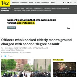 Officers charged for assaulting elderly protester