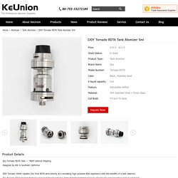 IJOY Tornado RDTA Tank Atomizer - 5ml, Black/Stainless stee, 300W Capable Two Post