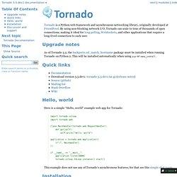 Tornado Web Server
