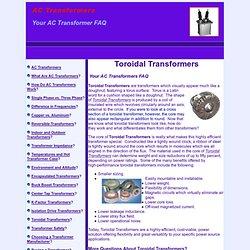 Toroidal Transformers - AC Transformers