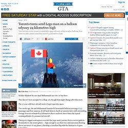 Toronto teens send Lego man on a balloon odyssey 24 kilometres high