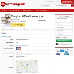 Toronto Local Business - Vaughan Office Furniture Inc - Local Business