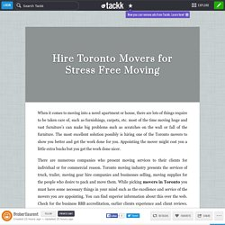 Hire Toronto Movers for Stress Free Moving
