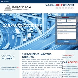 Personal Injury and Car Accident Lawyers in Toronto