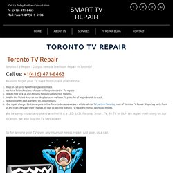 SMART LED TV AND LCD REPAIR TORONTO – SMART TV REPAIR