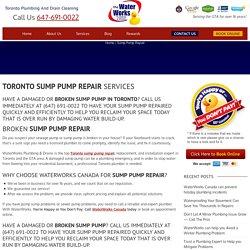Toronto Sump Pump Repair – Toronto Plumbing Service