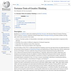 Torrance Tests of Creative Thinking