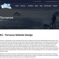 K2 - Torrance Website Design / SEO / WordPress / Hosting
