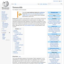 Torrens title
