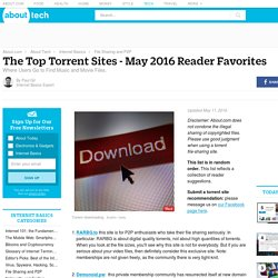 The Top Torrent Sites - March 2016 Reader Recommendations
