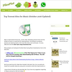 Top Torrent Sites for Music (October 2016 Updated)