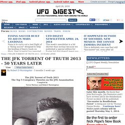 THE JFK TORRENT OF TRUTH 2013 - 50 YEARS LATER