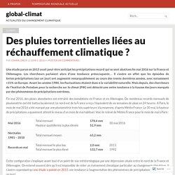 Des pluies torrentielles liées au réchauffement climatique ? – global-climat