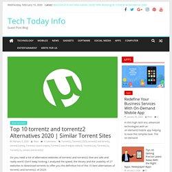 Top 10 torrentz and torrentz2 Alternatives 2020