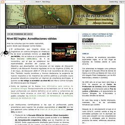Blog de Pilar Torres: Nivel B2 Inglés: Acreditaciones válidas