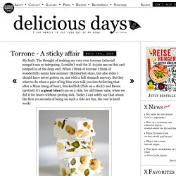 Torrone – A sticky affair