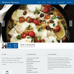 Torsk a la pizzaiola - Italiensk fisk