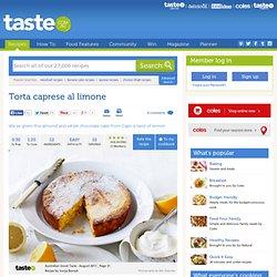 Torta Caprese Al Limone Recipe