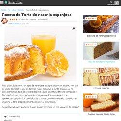 Torta de naranja esponjosa - Fácil