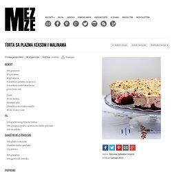 Torta sa Plazma keksom i malinama