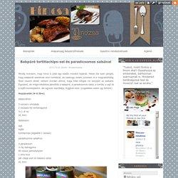Babpüré tortillachips-sel és paradicsomos salsával - Ez nem a Le Cordon Bleu