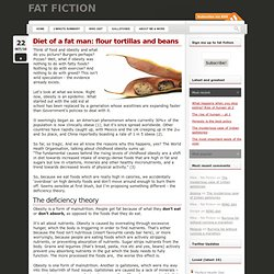 Diet of a fat man: flour tortillas and beans « Weight loss, gallstones and the obesity crisis