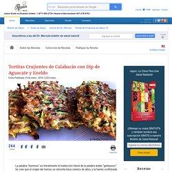 Tortitas de Calabacín con Dip de Aguacate y Eneldo