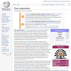 Tory corporatism