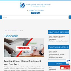 Toshiba Copier Rental - Best Office Equipment for Lease