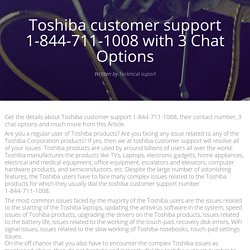 Toshiba customer support with Three Chat Options