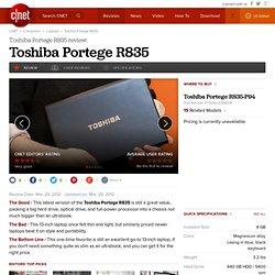 Toshiba Portege R835-P88 Review CNET
