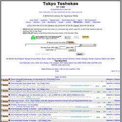 #tokyotosho @ irc.rizon.net