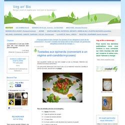 Tostadas aux épinards (convenant à un régime anti-candida/mycoses)