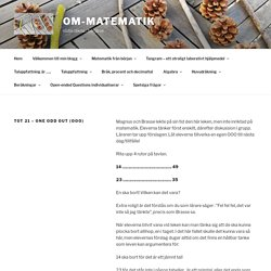 TOT 21 – One Odd Out (OOO) – om-matematik