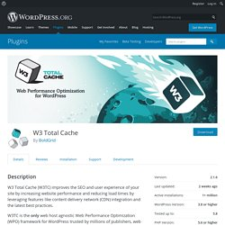 W3 Total Cache — WordPress Plugins