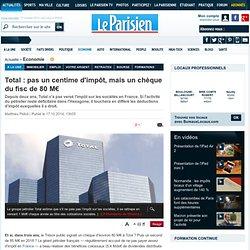 Total: pas un centime d'impôt, mais un chèque du fisc de 80M€