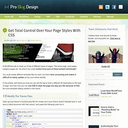 Get Total Control Over Your Page Styles With CSS | Pro Blog Desi