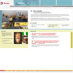 TOTAL Nigeria - Home Page